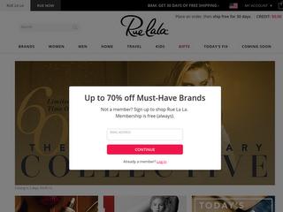 ruelala.com screenshot