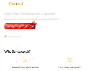 santa.co.uk screenshot
