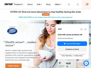 senseproducts.co.uk screenshot