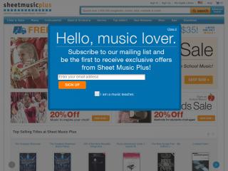 sheetmusicplus.com screenshot