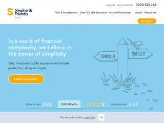 shepherdsfriendly.co.uk screenshot