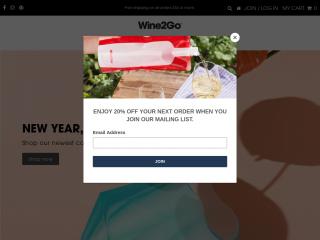 shop.wine2go.co screenshot