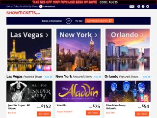 showtickets.com screenshot