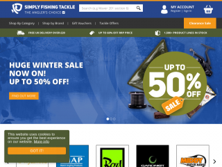 simplyfishingtackle.co.uk screenshot