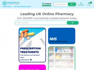 simplymedsonline.co.uk screenshot