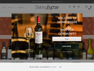 skinnybooze.co.uk screenshot