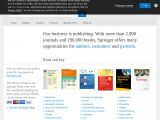 springer.com screenshot