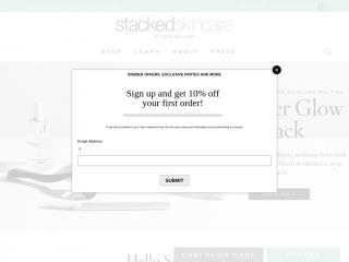 stackedskincare.com screenshot