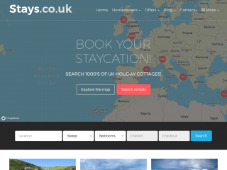 stays.co.uk screenshot
