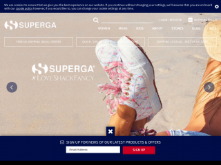 superga.co.uk screenshot