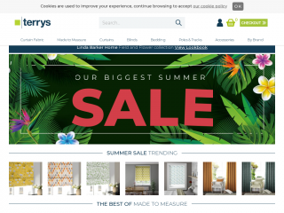 terrysfabrics.co.uk screenshot