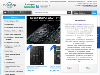thedjshop.co.uk screenshot