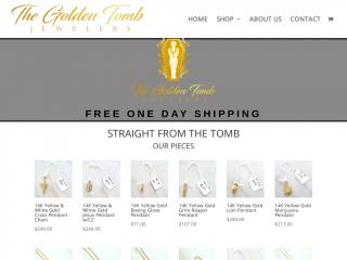thegoldentombjewelers.com screenshot