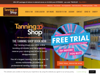 thetanningshop.co.uk screenshot