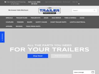 thetrailerpartsoutlet.com screenshot