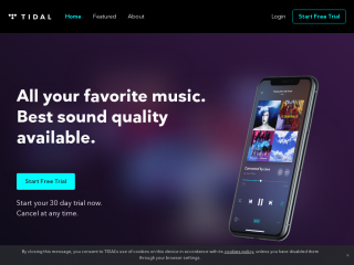tidal.com screenshot