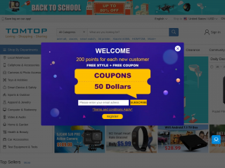 tomtop.com screenshot
