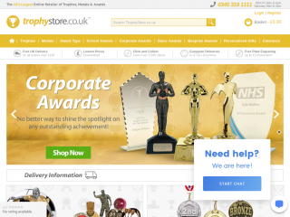 trophystore.co.uk screenshot