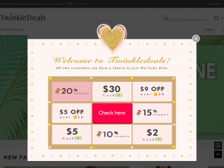 twinkledeals.com screenshot