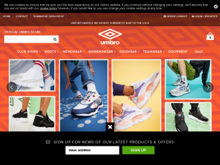 umbro.co.uk screenshot