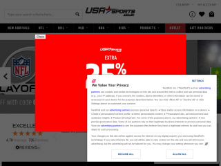 usasports.co.uk screenshot