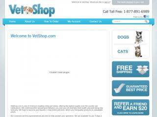 vetshop.com screenshot