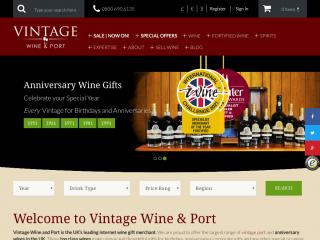 vintagewineandport.co.uk screenshot