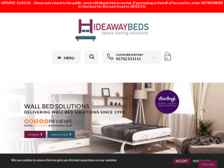 wallbeds.co.uk screenshot