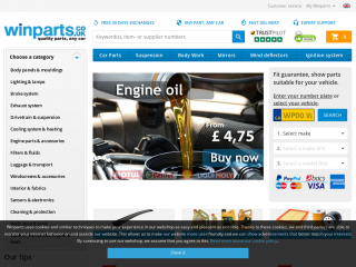 winparts.co.uk screenshot