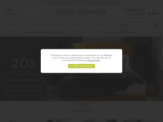 woods-furniture.co.uk screenshot